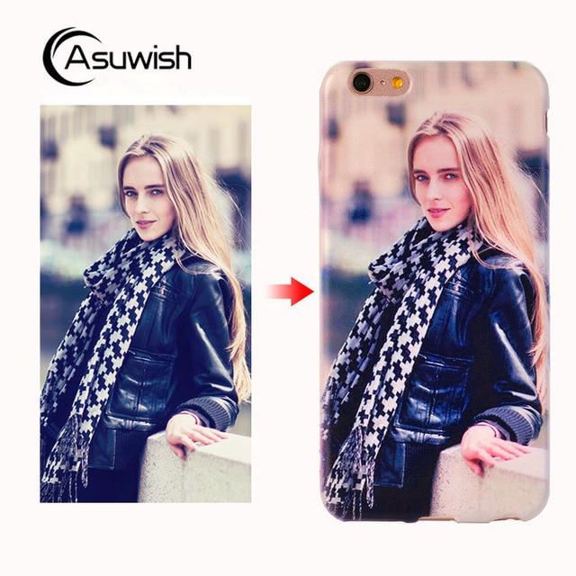 Asuwish Silicone Case For Sony Xperia ZL L35H C6503 C6502 C6506 Phone Case Soft Transparent TPU Cover Custom Diy Print Photo