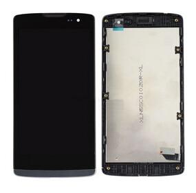 De color negro para lg leon h340 h320 h324 h340n ms345 h345 h326 pantalla lcd con digitalizador táctil de cristal + frame asamblea