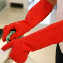 Home kitchen Rubber Latex Dish Long Household Kitchen warm Gloves for Washing Cleaning 38 10 5cm