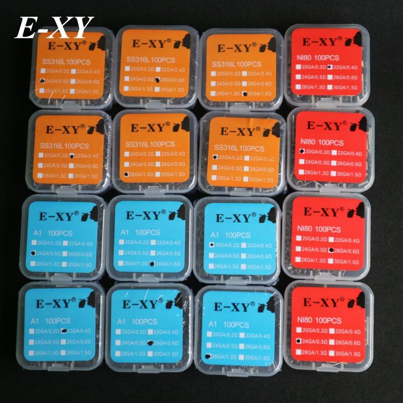 E-XY A1 Coil Draad SS316L Premade coils NI80 Prebuilt coil draad - Elektronische sigaretten