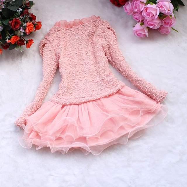 50ea7bff0597 Online Shop Fashion Girls 2 Pieces Set 2018 Baby Kids Winter Dress ...