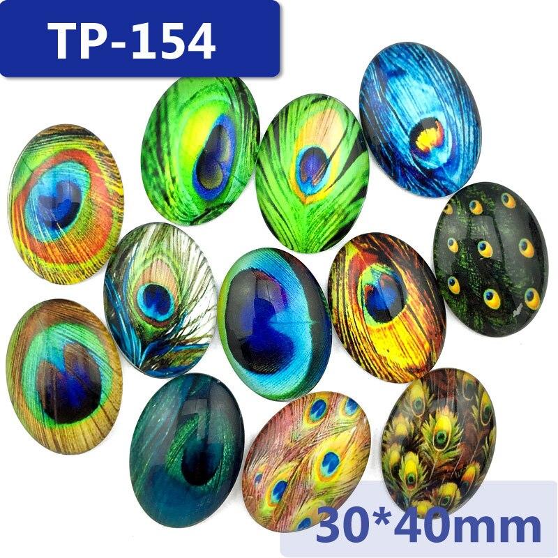 ᗔ30*40mm cristal oval Ajuste del patrón para el flatback del adorno ...