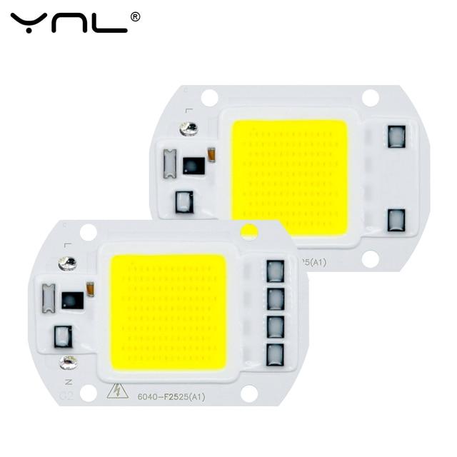 Lámpara LED COB Chip 220 V 3 W 5 W 7 W 9 W 10 W 20 W 30 W 50 W inteligente IC sin controlador foco de luz de inundación DIY iluminación ampolla bombilla LED