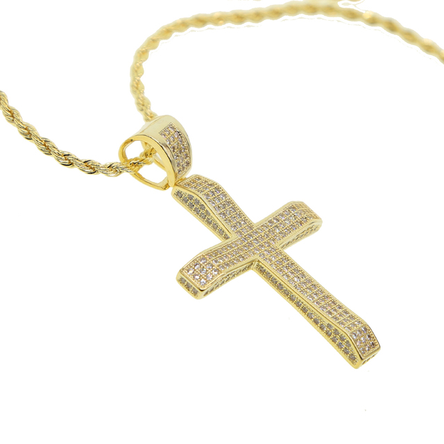 Gold color 2018 new arrived classic mens boy jewelry cross pendant gold color 2018 new arrived classic mens boy jewelry cross pendant micro pave full cubic zirconia aloadofball Choice Image