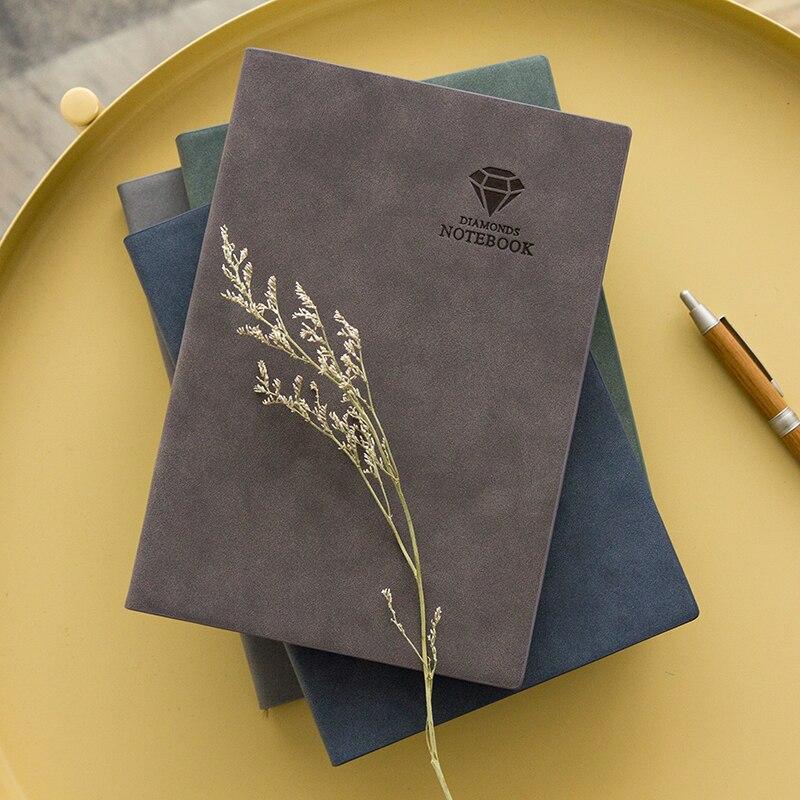 Ofis ve Okul Malzemeleri'ten Not defterleri'de B5/A5/A7 Kırtasiye Eski Deri Nobal Mavi Kahve Gri Not Defteri Hattı Kağıt Günlüğü Dizüstü Kitap Okul Ofis malzemeleri