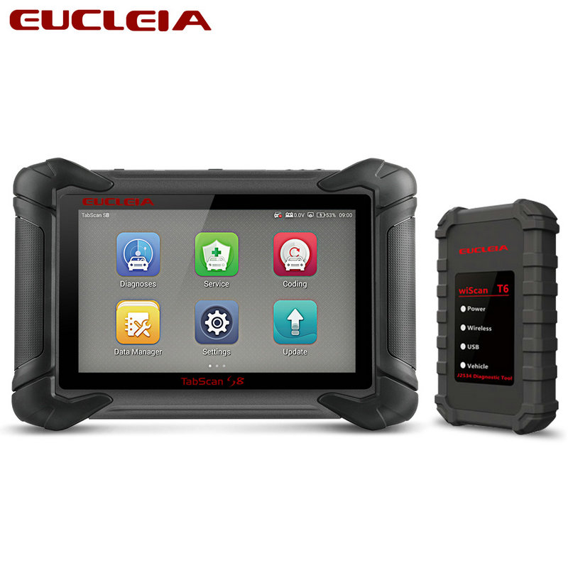 EUCLEIA TabScan S8 OBD2 Automotive Diagnostic Tool OBDII All system Coding and J2534 ECU programming OBD
