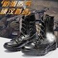 Caça Sapatos Tênis Preto Quatro Estações de Alta Top Leve Sola Grossa Novo Exército Botas de Deserto Ao Ar Livre Masculino Eva Bandage