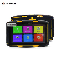 TOPSOURCE GPS 5 inch Android Navigator Motorcycle Waterproof DDR 1GB MT 5001 GPS with WiFi Play Store APP download Bluetooth 4.0