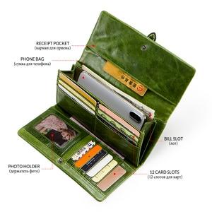 Image 4 - 本革の女性は女性クラッチ財布ブランドマネーバッグ女性ジッパーコイン財布portomoneeカードホルダー
