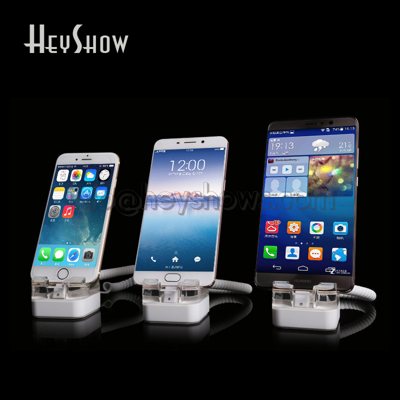 10x Acrylic Mobile Phone Security Display Stand iphone Anti Theft System Tablet Burgar Alarm Ipad Holder For Apple Store 40pcs lot 15cm acrylic security ipad stand tablet display holder round clear base for apple samsung shop