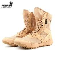 Cqb الأحذية العسكرية القتالية الصيف sfb جدا القوات الخاصة التكتيكية أحذية الصحراء تان الاحرار