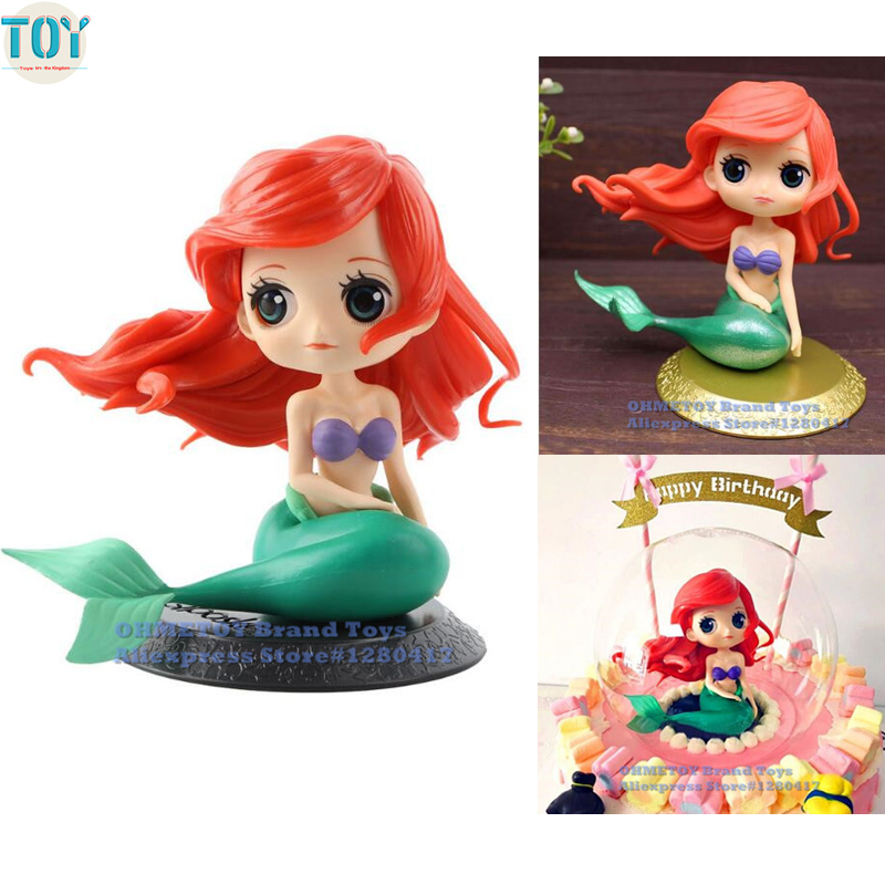 OHMETOY Little Mermaid Princess Toy Ariel Figure Doll Cake ...