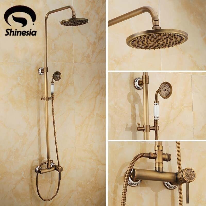 Newly Wall Mounted Rain Shower Set Faucet 8