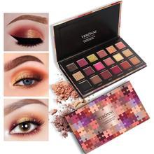 Makeup eyeshadow Palette Professional 18 Color Shimmer Matte Eye Shadow Pigments VERONNI Maquiagem Glitter Eyeshadow Pallete цена и фото