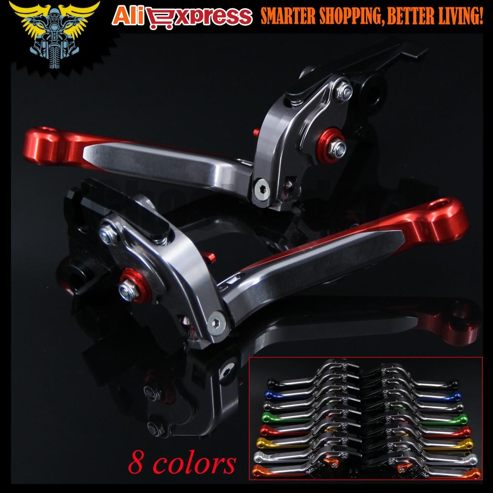 Red+Titanium 8 Colors CNC Adjustable Folding Extendable Motorcycle Brake Clutch Levers For Honda CBR650F/CB650F 2014 2015 2016 adjustable folding extendable brake clutch levers for suzuki gsf650 bandit gsx650f gsx1250 f sa tl1000s 8 colors