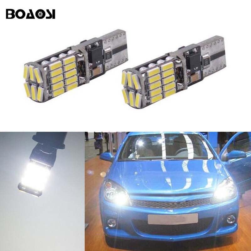 BOAOSI 2x T10 4014SMD LED Error Free Eyebrow Eyelid Light Bulb For Opel Astra h j g Corsa Zafira Insignia Vectra b c d ветровики prestige opel astra h sd4d 04