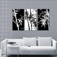 Hand Painted Abstract Art Oil Paintings On Canvas Picture Bamboo For Living Room Wall Decor Paintings
