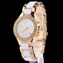 2016 Nueva venta caliente Marca de fábrica famosa reloj de oro para las mujeres diseñador de las señoras del reloj de cuarzo relojes de lujo reloj de la mujer