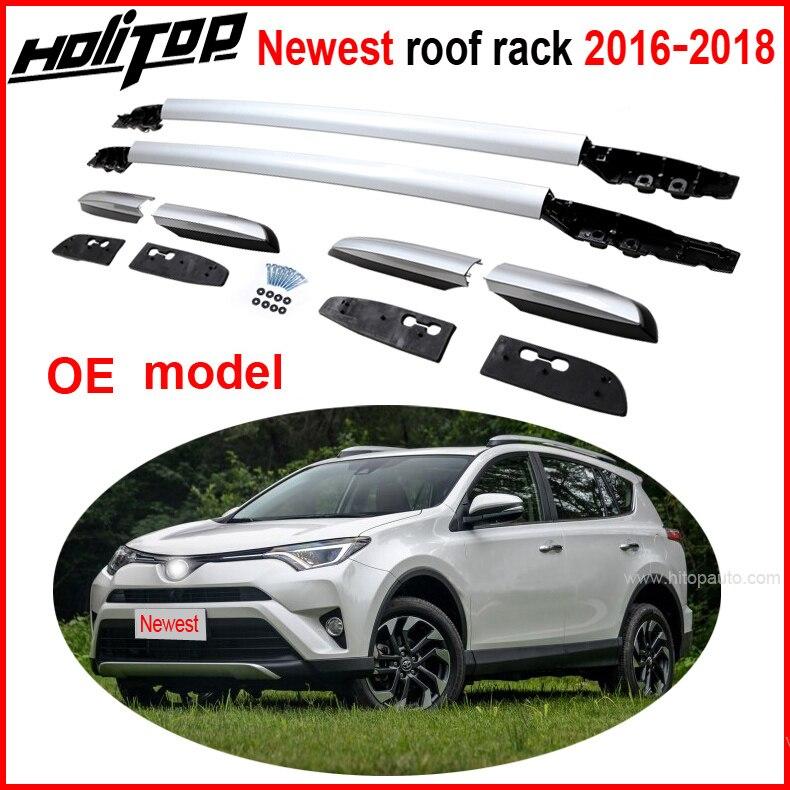 OE telhado ferroviário rack de teto bar telhado para Toyota RAV4 2016 2017 2018, liga de alumínio de aviação, vendedor de idade 5 anos, garantia de qualidade