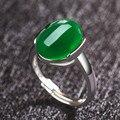 Big Simulado Rubi Vermelho Verde Esmeralda Pedra Anéis para As Mulheres latão 925 Prata Esterlina Anel Feminino Anel de Casamento Festa de Jóias senhora