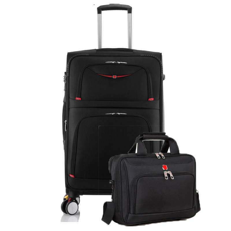 LeTrend 28 inch High capacity Oxford Rolling Luggage Set Spinner Shoulder Suitcase Wheels password Trolley laptop Travel Bag