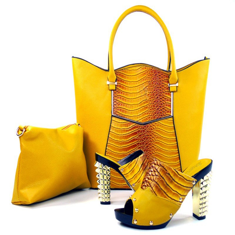 2016 Italian Shoes With Matching Bag High Quality Italy Shoe And Bag set For wedding and