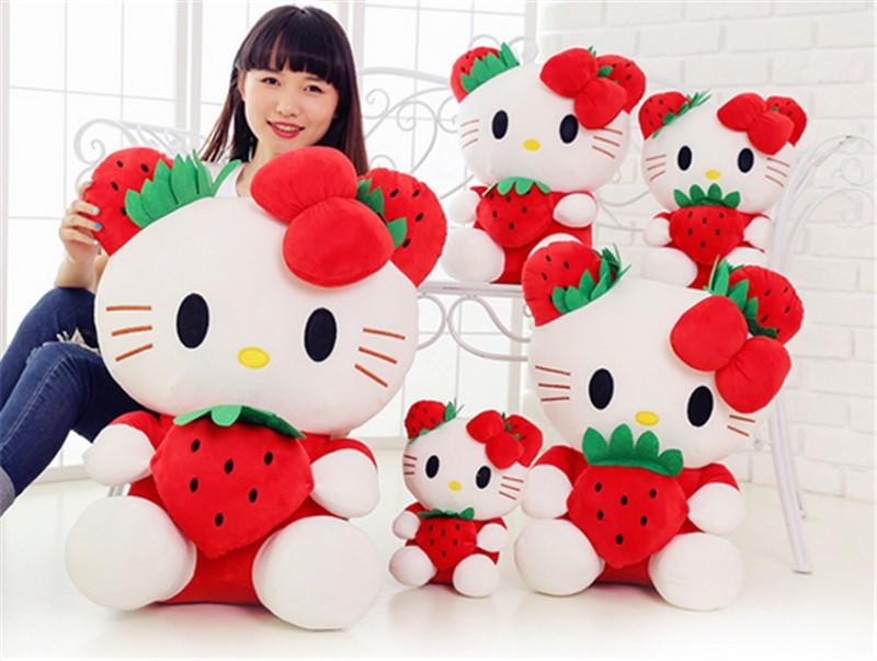 fancytrader cartoon lovely stuffed plush large giant hello kitty kt cat plush doll toys 65cm Christmas birthday gift  5