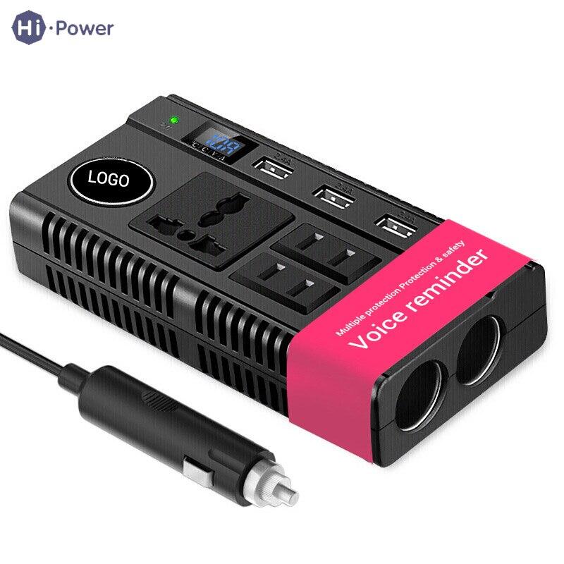 Hi-power Car Power Inverter DC 12V/24V to 220V Power Converter Car USB Charger Adapter Charge Vehicle Cigarette Lighter dual usb car cigarette lighter charger power adapter for iphone black dc 12 24v