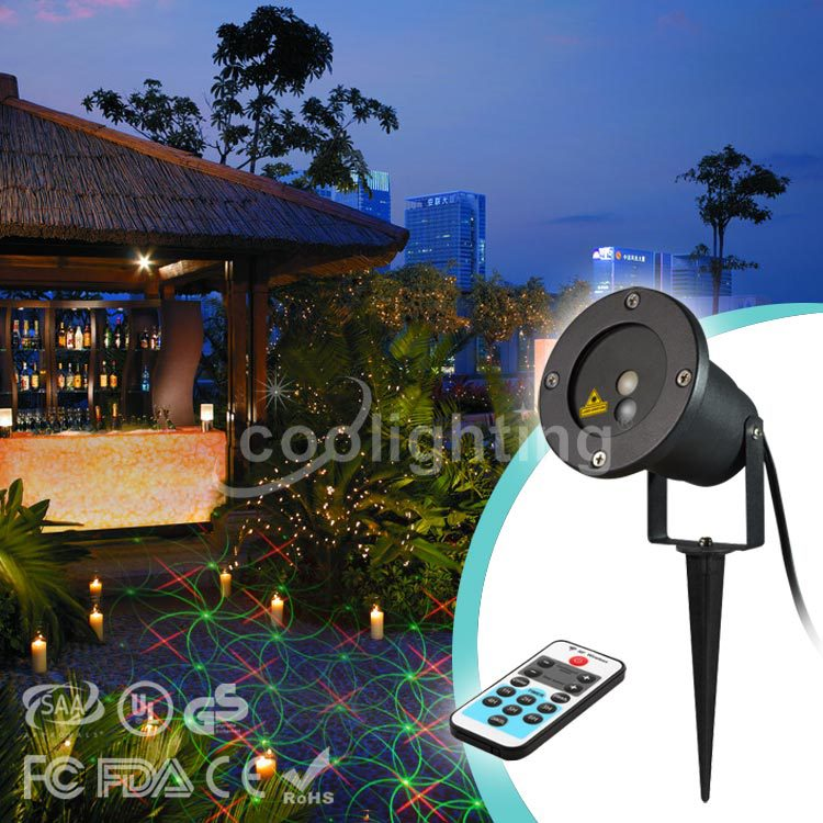 8 in 1 high-quality red laser remote waterproof lawn lamp Christmas lamp square landscape lamp 100mw650nm cross red laser head high power red positioning marking instrument high quality