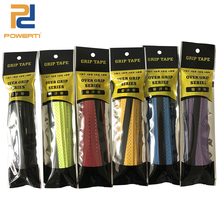 POWERTI 10pcs/lot EVA PU Tacky Sweatband Punch Tennis/Badminton Racket Grip Breathable Viscosity Grip Absorbed Tape