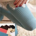 Free shipping Winter Women OPAQUE Striped tights Keep Warm Stretchy Velvet Hosiery pantyhose 80D
