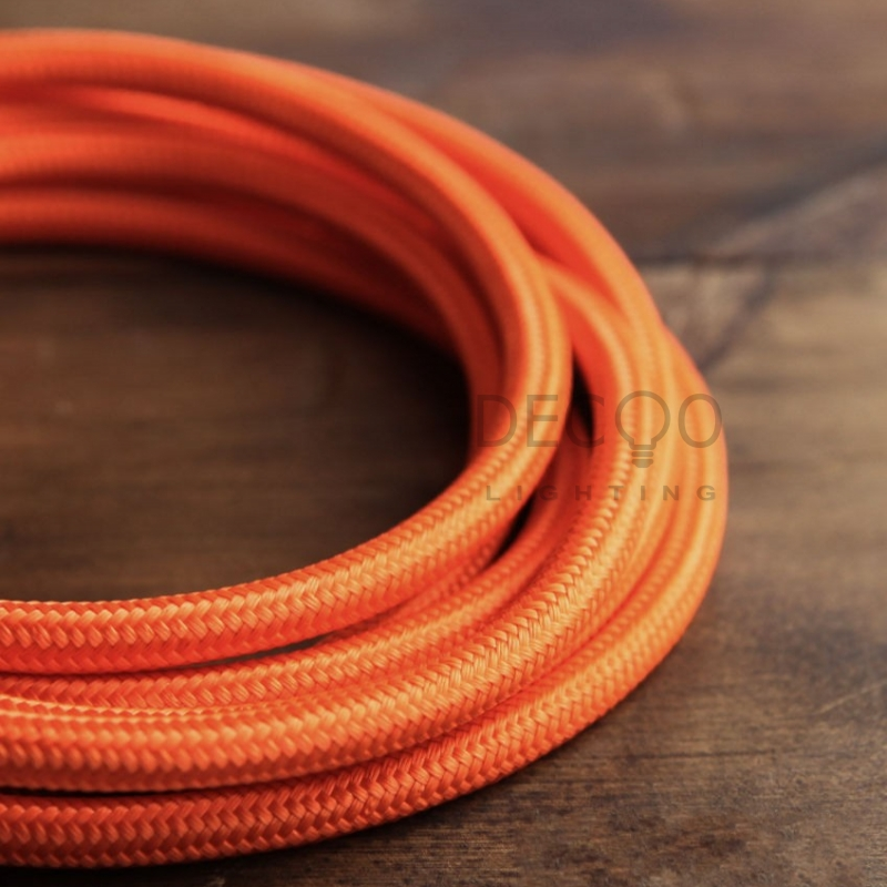 Orange Edison Bulb Cable Braided Lighting Flex Antique Textile Light Cord Fabric Lighting Cable-in Wires u0026 Cables from Lights u0026 Lighting on Aliexpress.com ... & Orange Edison Bulb Cable Braided Lighting Flex Antique Textile Light ...