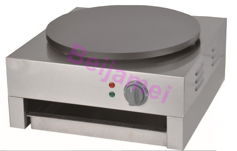 BEIJAMEI Single Plate Commercial Crepe Maker Making Machine Electric Non-stick Teflon Pancake Making Machine Price