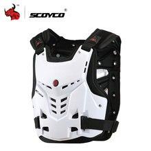 Racing de SCOYCO armadura de la motocicleta Motocicletas A Caballo En El Pecho y la Espalda Protector Armor Motocross Off-Road Racing Chaleco