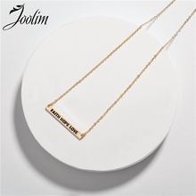 JOOLIM Faith Hope Love Fearless Dream Alphabetic Necklace Words Pendant Design Jewelry Gift