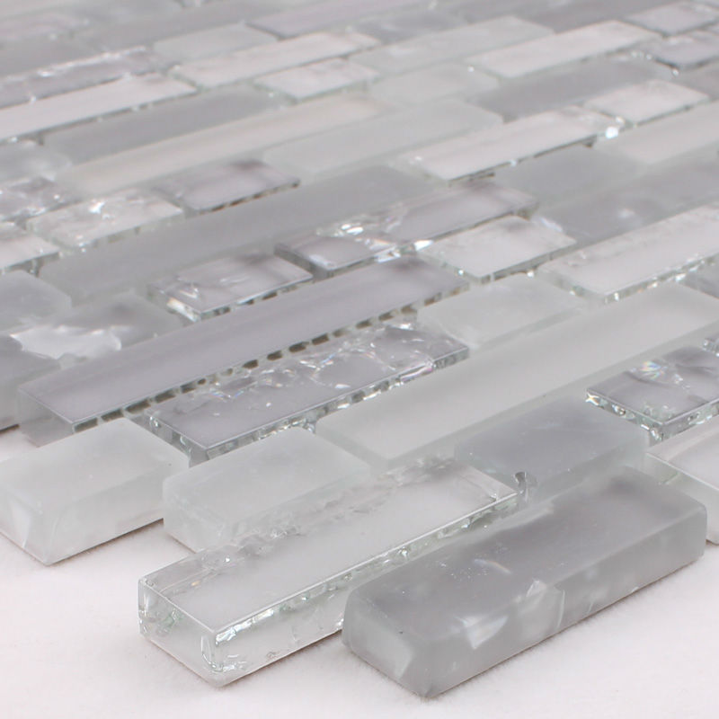 Crystal Glass Mosaic Crack Stickers Kitchen Backsplash