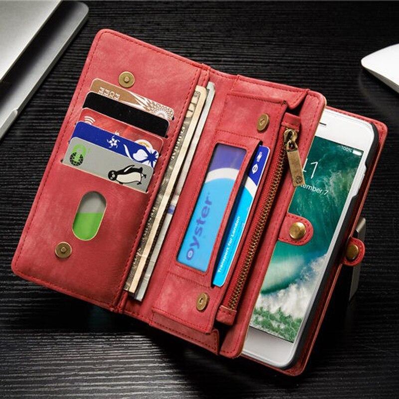 bilder für Multifunktions Magnetic Wallet Ledertasche Für iPhone 7 Plus 2 in 1 Kartenhalter Abdeckung Für iPhone 7 Plus Fall