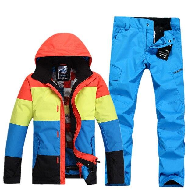 Invierno Gsou marca chaquetas de esquí hombres snowboard