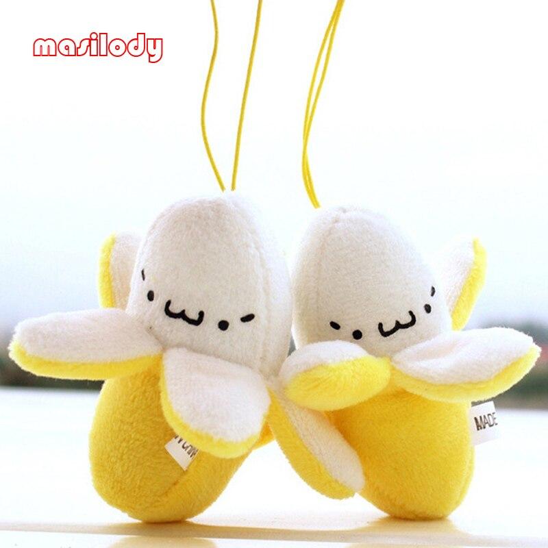 100 teile/los Mini Banana Keychain Plüsch Schlüsselanhänger Geschenk String Schlüsselanhänger Plüsch Puppe Spielzeug für Hochzeits blumenstrauß Puppe Obst Schlüsselring-in Schlüsselanhänger aus Schmuck und Accessoires bei  Gruppe 1