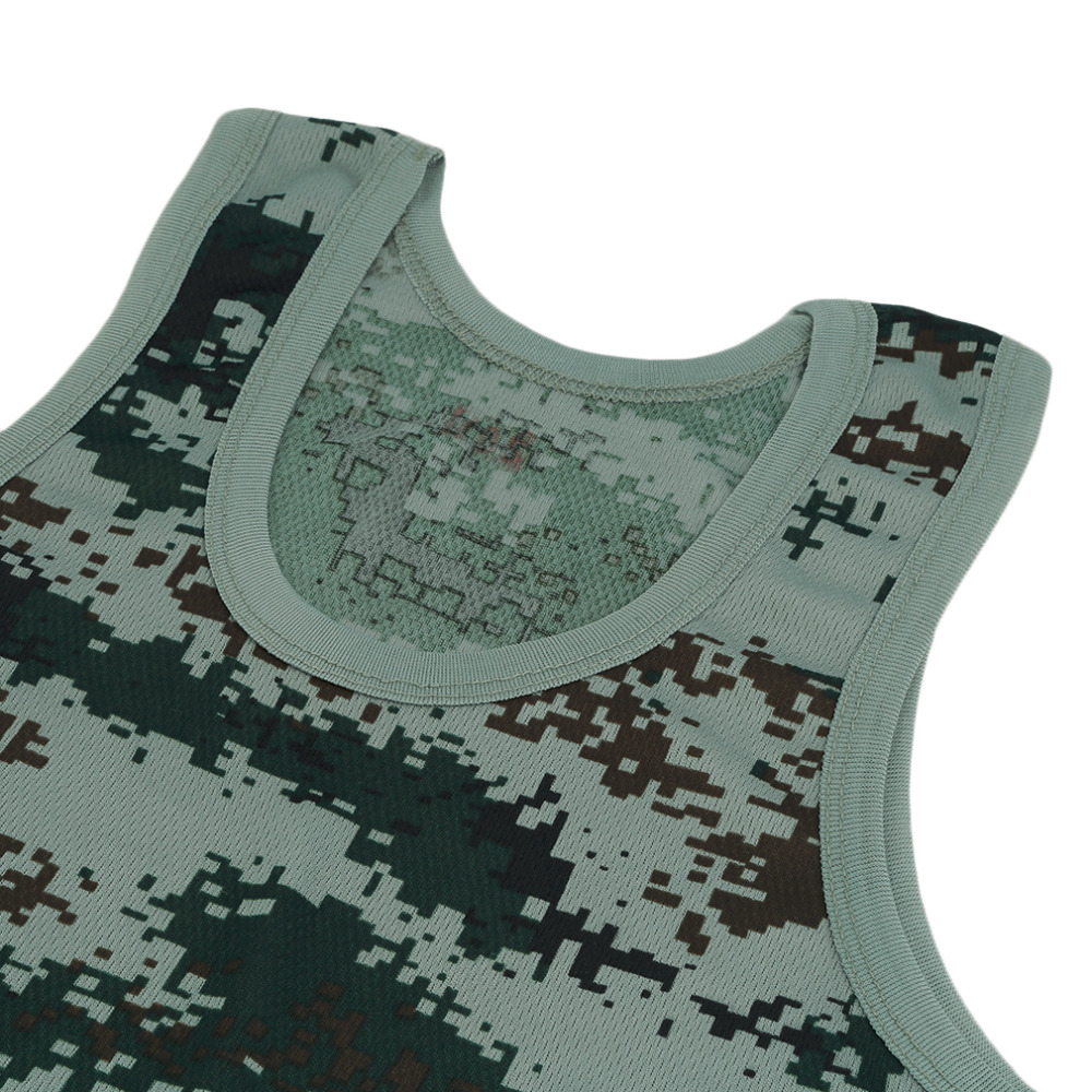 Good Military Style Men Running Jogging Vest Hunting Hiking Outdoor Camouflage Tank Top Stretchy Wild Tight Gym Sport Bodybuilding Sports & Entertainment