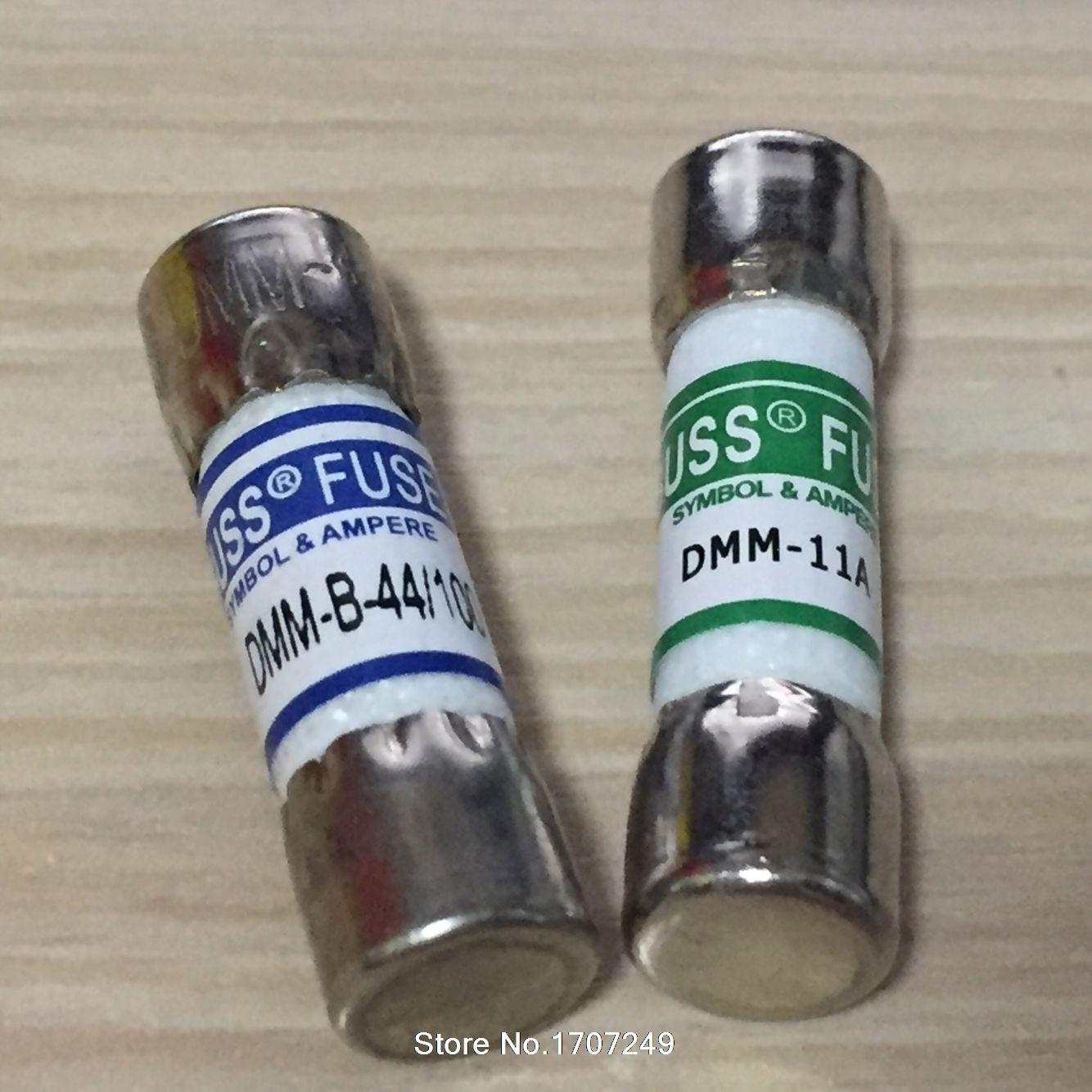 DMM-B-11A + DMM-B-44/100 1000VAC/DC 10*38 MM 11A + 10*35mm 440MA BUSS SICHERUNG für FLUKE MULTIMETER BUSSMANN DMM-11A + DMM-44/100