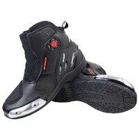 Motorcycle Boots SCOYCO MR002 Moto Racing Leather Shoes Motorbike Riding Sport Road SPEED Professional Botas Men Women Black