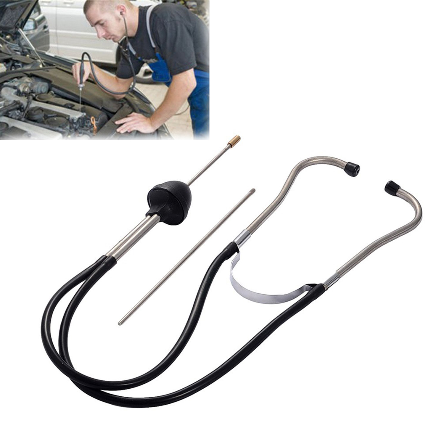 1pcs Auto Mechanics Noise Stethoscope Car Engine Block Diagnostic Tool Cylinder Automotive Hearing Tools For Car