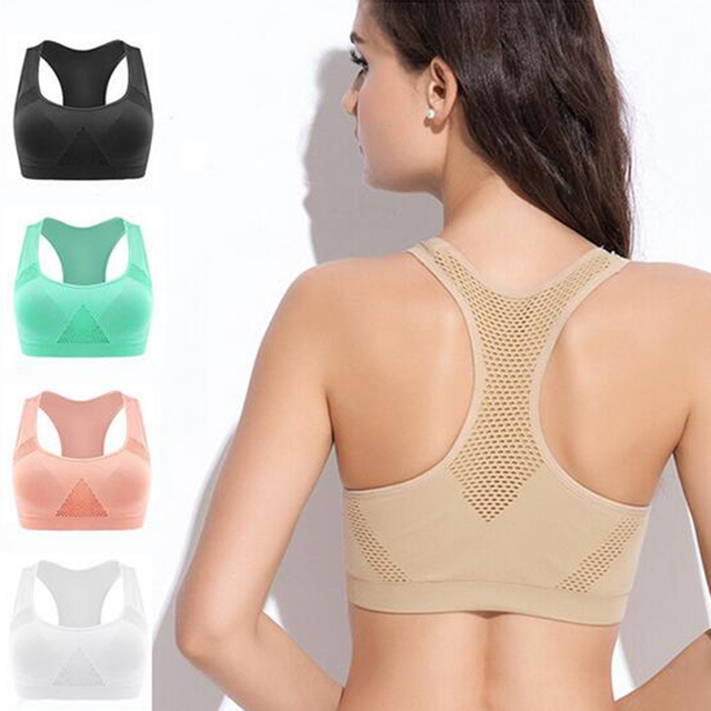 9c44482fbc9e1 Female Fitness Yoga Sports Bra For Women Running Gym Padded bralette  Underwear Push Up Seamless Fitness Top Bras