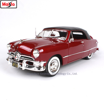 Maisto 1:18 1950 Ford soft top sports Car Alloy Retro Car Model Classic Car Model Car Decoration Collection gift maisto 1 18 1950 ford old car model diecast model car toy new in box free shipping 31681