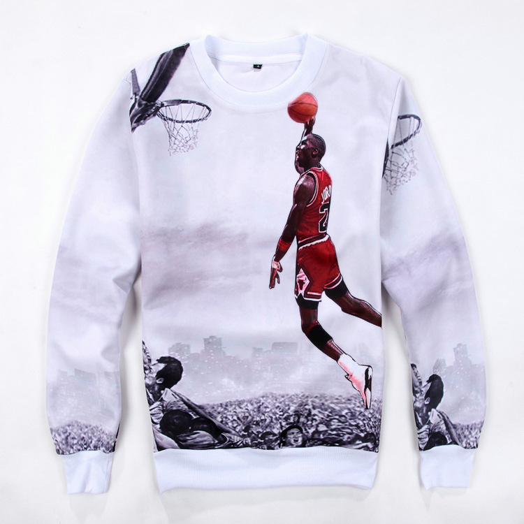 17041b41f92 Autumn/Winter Mens Hoodies 3D Printed Star Jordan Graphic Sweatshirts Long  Sleeve Pullovers Crewneck Tracksuit Outfits Plus Size