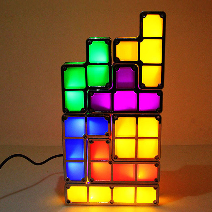 Diy tetris puzzle novelty led night light stackable led desk table diy tetris puzzle novelty led night light stackable led desk table lamp constructible block kids toys light christmas gift in night lights from lights geotapseo Gallery