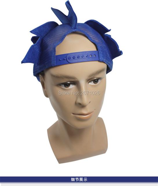 Blue Sonic The Hedgehog Cosplay Cap Hat Prop Adjustable Baseball Caps Cartoon Summer Hat Plush Toy