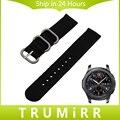 22mm pulseira de nylon zulu 2 peças cinta para samsung gear S3 Clássico Fronteira Faixa de Relógio Pulseira Cinto de Tecido Preto Azul marrom