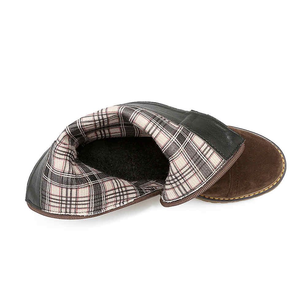 KARINLUNA/2019 г. Новая обувь на платформе с широким средним каблуком, ремешком и пряжкой, на молнии, женская повседневная обувь, осенне-зимние ботильоны, большой размер 33-43